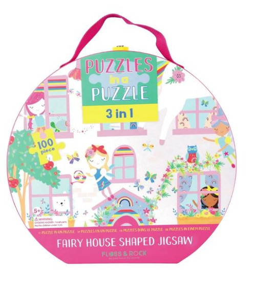 100pc 3 in 1 Puzzle - Fairy House