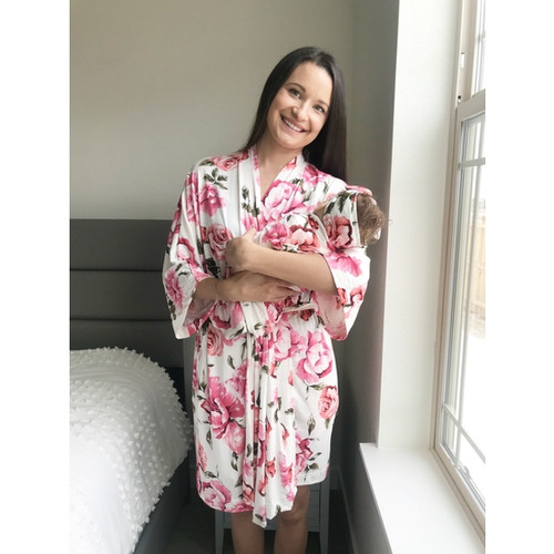 Aspen Lane Maternity 3pc Set (Robe/Blanket/Headband)