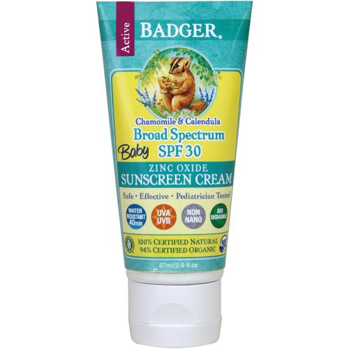 Badger - Baby Sunscreen Cream SPF30 - Chamomile & Calendula