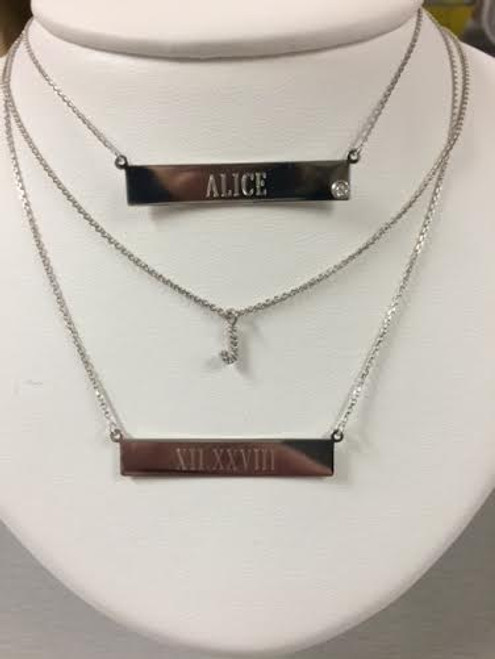 Personalized Bar Mother's Necklace