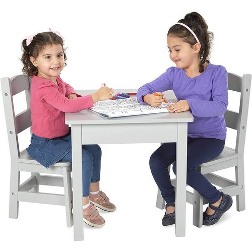 Wooden Table and Chairs 3 Piece Set