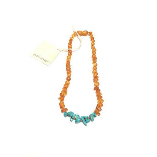 Canyon Leaf Amber Necklace