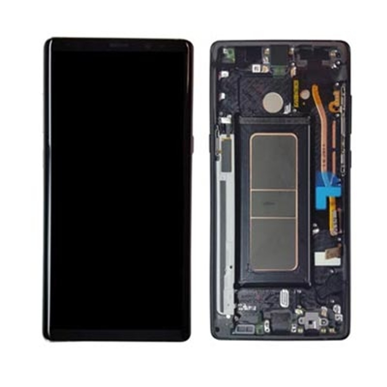With Samsung Housing 8 Black Genuine Digitizer Front Galaxy Note Assembly Lcd Display
