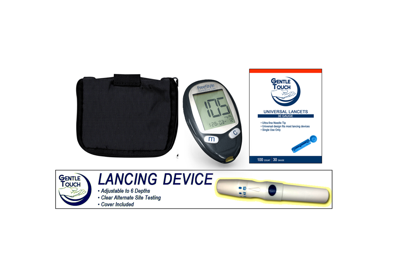 Abbott Freedom Lite abbott freestyle freedom lite meter [+] lancing device & lancets for  glucose care