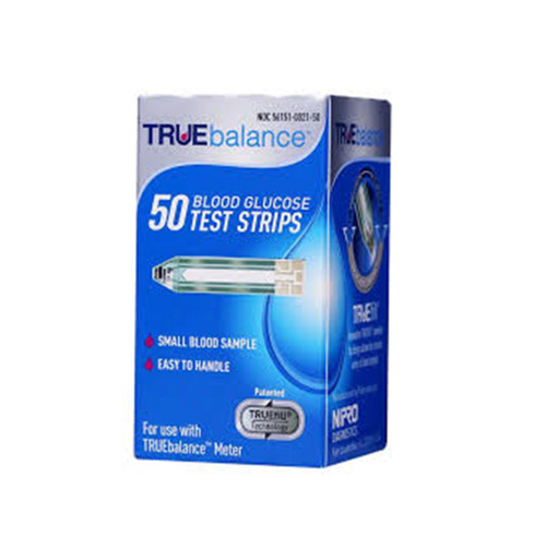 TRUE Balance 50 Test Strips For GLucose Care