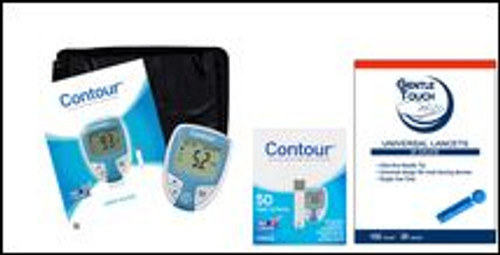 Ascensia Bayer Contour Meter [+] Contour 50 Test Strips For Diabetic Petient