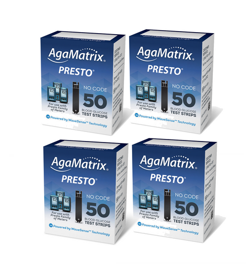 AgaMatrix WaveSense Presto 200 Test Strips For GLucose Care