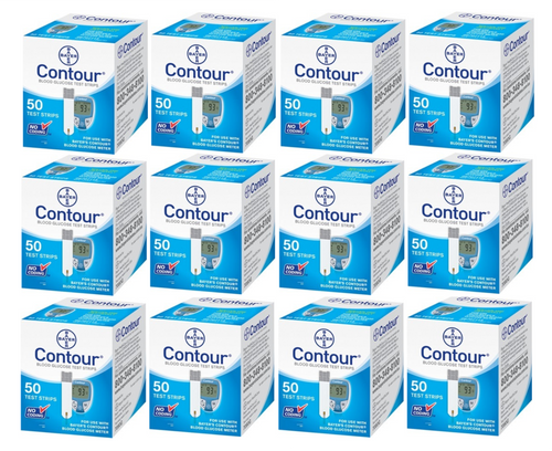Ascensia Bayer Contour 600 Test Strips For GLucose Care