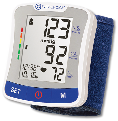 Clever Choice Fully Auto Wrist Blood Pressure Monitor SDI-1586W