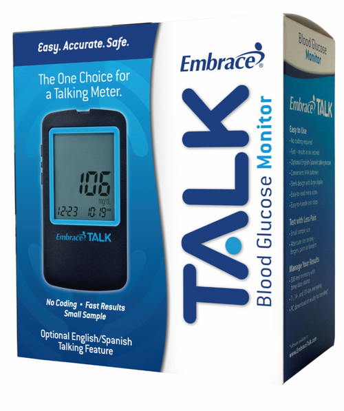 Omnis Health  Embrace No-Code Talking Blood Glucose Meter Only For GLucose Care