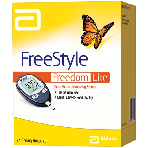ABBOTT FreeStyle Freedom Lite Blood Glucose Meter Kit For GLucose Care