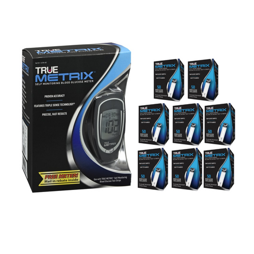 TRUE Metrix Meter [+] Metrix 400 Test Strips For GLucose Care