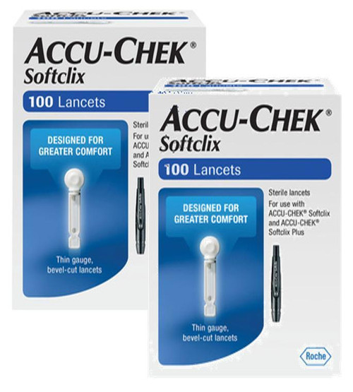 Accu-Chek Softclix Lancets 100 Ct BX [2 Pack] For GLucose Care