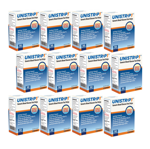 UniStrip Glucose 600 Test Strips For GLucose Care