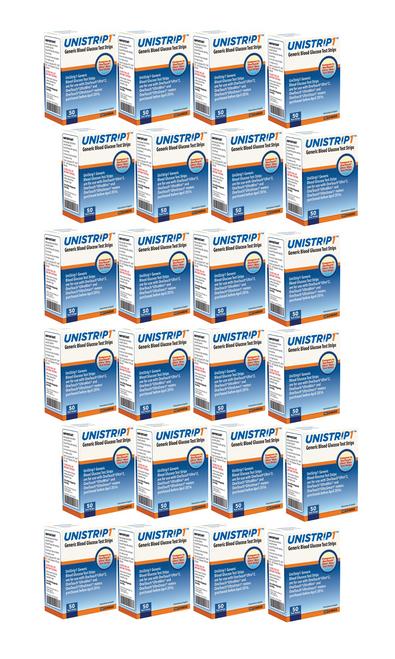 UniStrip Glucose 1200 Test Strips For GLucose Care