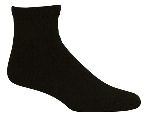 Active Pro Diabetic Socks Size 10-13 Ankle Set of 3 Pair Pack -Black