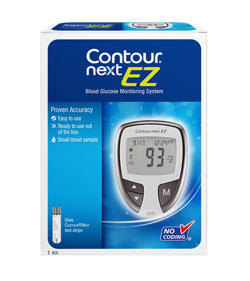 Ascensia Bayer Contour Next EZ Meter Kit For GLucose Care