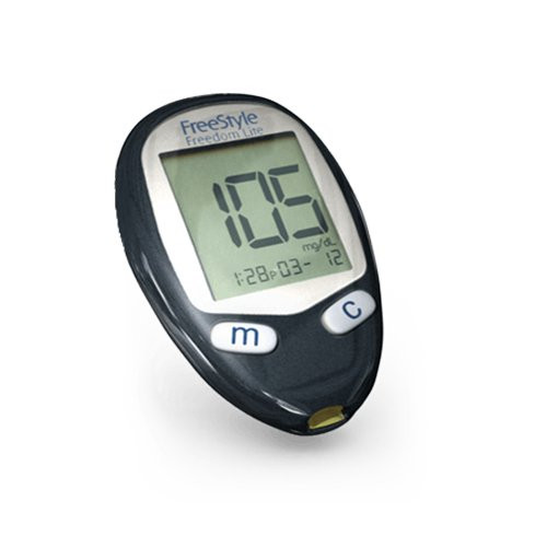 ABBOTT FreeStyle Freedom Lite Blood Glucose Meter Only For GLucose Care