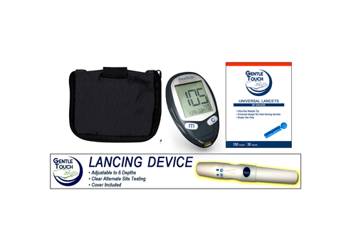 ABBOTT FreeStyle Freedom Lite Meter [+] Lancing Device & Lancets For GLucose Care