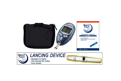 ABBOTT FreeStyle Lite Meter [+] Lancing Device & Lancets For GLucose Care