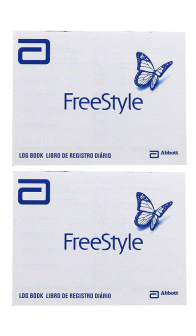 ABBOTT FreeStyle Log Book [2 pack] For GLucose Care