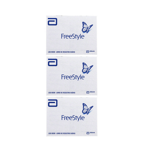 ABBOTT FreeStyle Log Book [3 pack] For GLucose Care