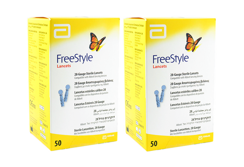 ABBOTT FreeStyle Sterile Lancets 100 Ct [2 pack] For GLucose Care