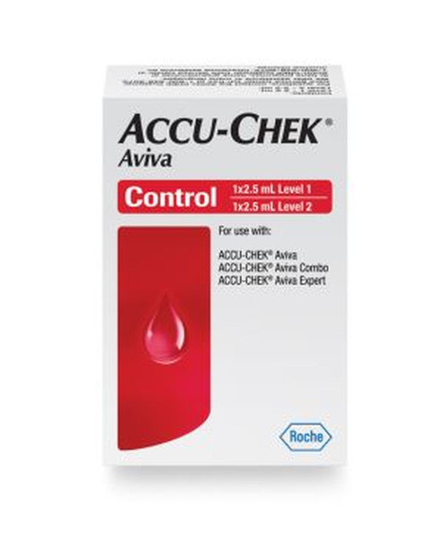 Accu-Chek Aviva Control Solution High and Low, Combo For GLucose Care