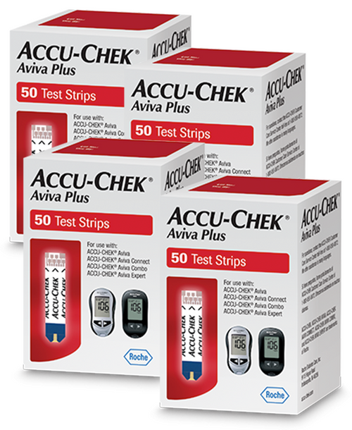 Accu-Chek Aviva Plus  200 Test Strips For GLucose Care