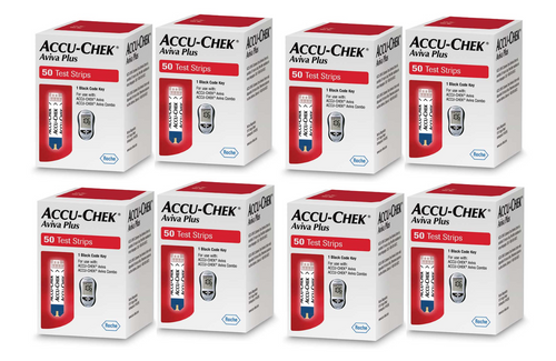 Accu-Chek Aviva Plus  400 Test Strips For GLucose Care