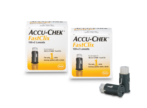 Accu-Chek FastClix Lancets 102 Ct [2 pack] For GLucose Care