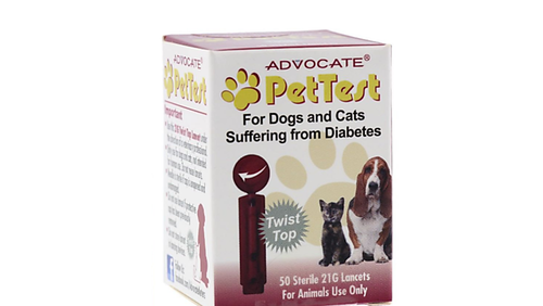 Advocate PetTest Twist Top Sterile Lancets 50 Ct. For Diabetic Pet