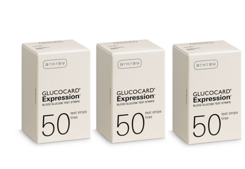 Arkray Glucocard Expression 150 Test Strips For GLucose Care