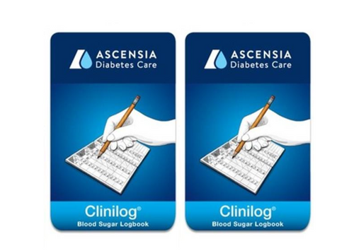 Ascensia Bayer Clinilog LogBook [2 pack] For GLucose Care