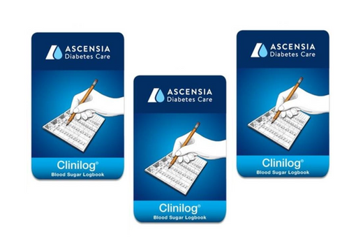Ascensia Bayer Clinilog LogBook [3 pack] For GLucose Care