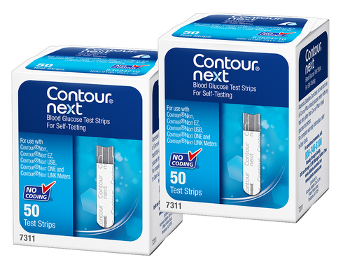 Ascensia Bayer Contour NEXT 100 Test Strips For GLucose Care