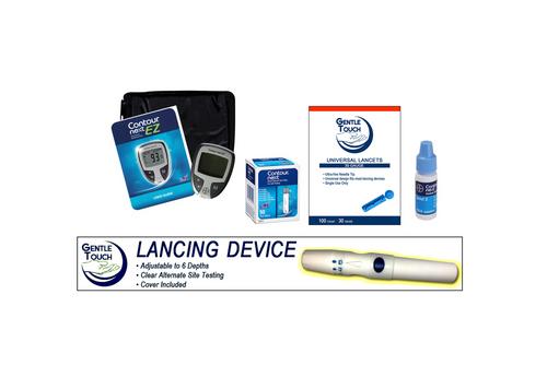 Ascensia Bayer Contour Next EZ Meter  [+] Next  50 Test Strips, Lancing Device & Lancets For GLucose Care