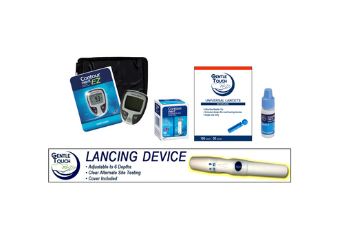 Ascensia Bayer Contour Next EZ Meter  [+] Next  50 Test Strips, Lancing Device & Lancets For GLucose Care