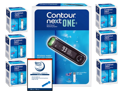 Ascensia Bayer Contour Next ONE Meter [+] Next 300 Test Strips & Lancets