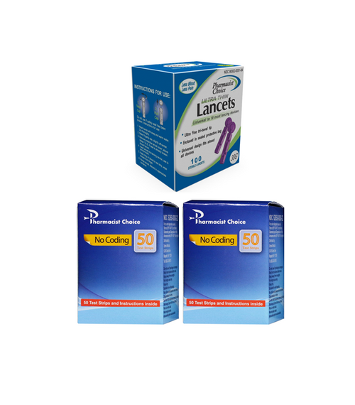 Clever Choice Voice Test Strips Strips 100 [+] Lancets 100 Ct For GLucose Care