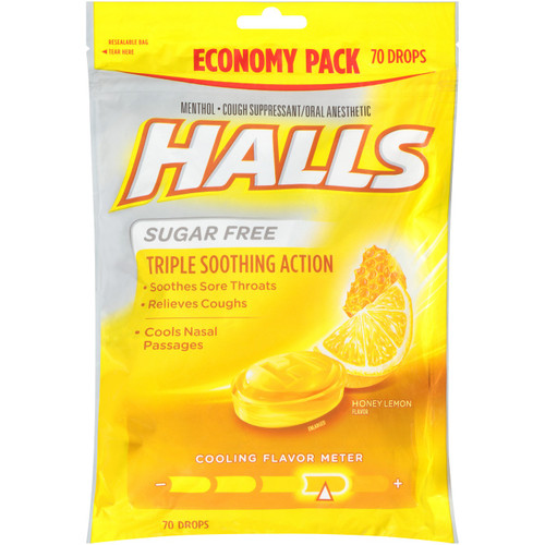 Halls Sugar Free Cough Drops Mountain Menthol 70ct -