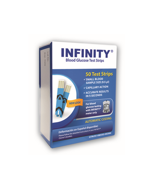 Infinity 50 Test Strips  For GLucose Care