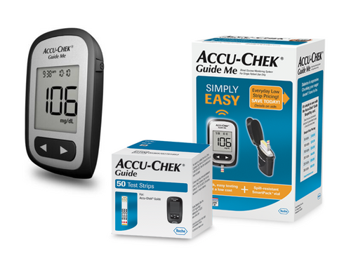 Accu-ChekGuide Me meter with Guide 50 Test Strip