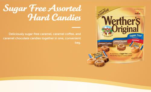 Werther's Original Sugar Free Assorted Caramel Hard Candies, 7.7oz Bag