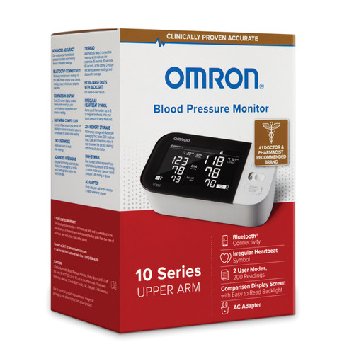 Omron+ 1 Digital Blood Pressure Monitoring Unit - Tube Pocket Size, Large Cuff - BP7450