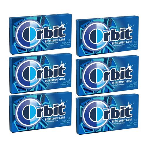 Wrigley's Orbit Sugar Free Gum 14 Pieces - Peppermint [ 6 Pack ]