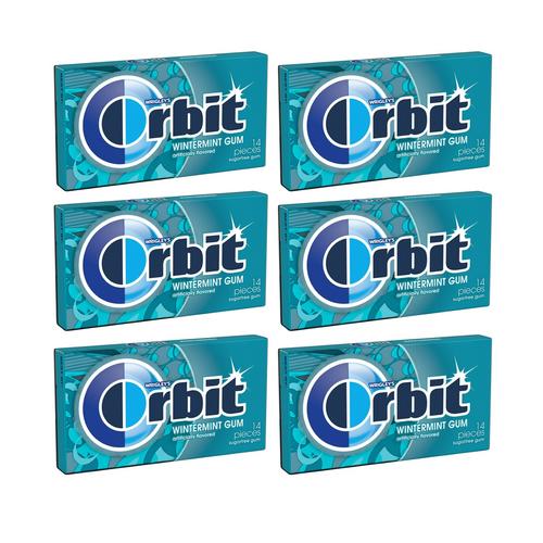 Wrigley's Orbit Sugar Free Gum 14 Pieces - Winter Mint Gum [ 6 Pack ]