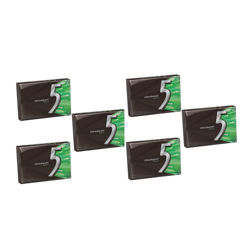 Wrigley's Five Sugar Free Gum 15 Sticks - Spearmint Rain [ 6 Pack ]