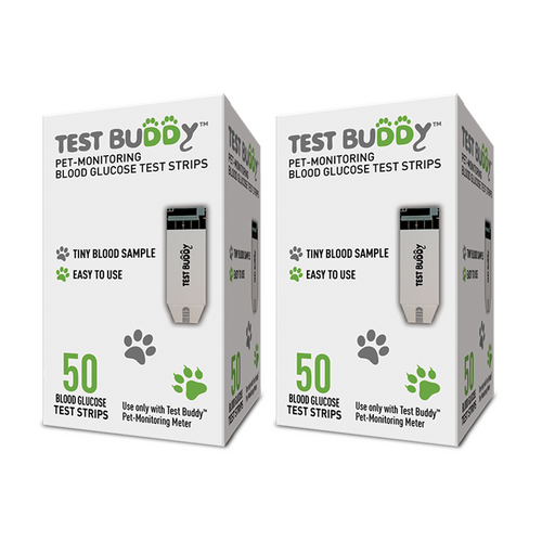 TestBuddy Glucose Monitor Test Strips 100 ct. For Diabetic Pet