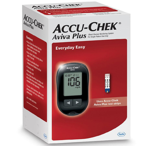 Accu-Chek Aviva Plus  Meter Kit For GLucose Care